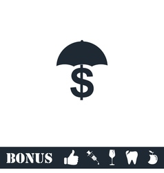 Preservation and protection money icon flat vector image