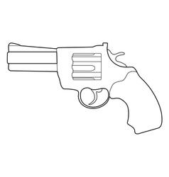 revolver pistol vector image vector image