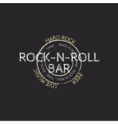 rock and roll bar stamp vector image
