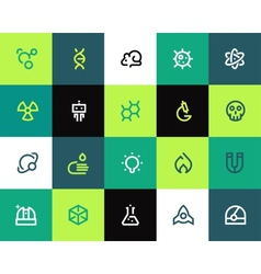Science icons set Flat vector image vector image
