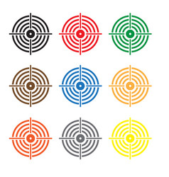 set target icon on white background target sign vector image