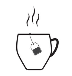 teacup icon on white background teacup symbol vector image