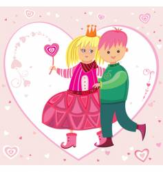 The Valentine's day card vector image vector image