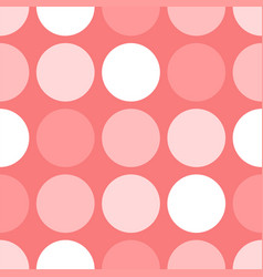 Tile pattern with polka dots on pink background vector