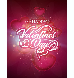 valentines day card with hearts template vector image vector image