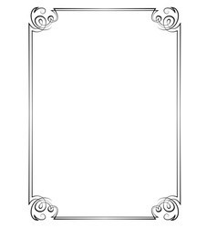 Vintage vertical frame vector image