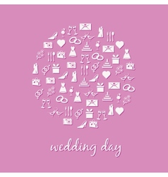 wedding icon in circle vector image vector image
