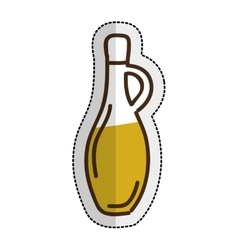 Olive oil bottle isolated icon vector