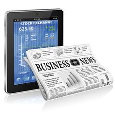 Business and News Concept vector image