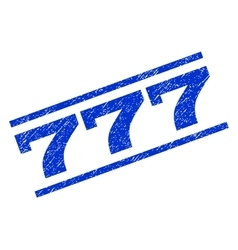 777 watermark stamp vector