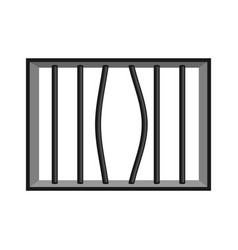 Prison grill isolated window in prison with bars vector
