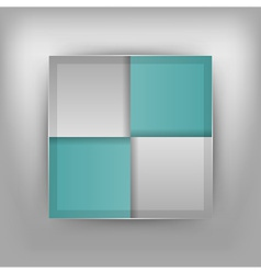 Business four squares turquoise vector
