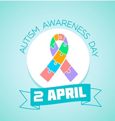 2 April Autism awareness day vector image