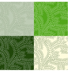 Seamless pattern made of leaves vector
