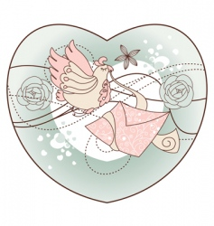 Romantic illustration vector