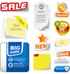 various sale design elements vector image