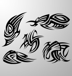 Tribal tattoo design element vector