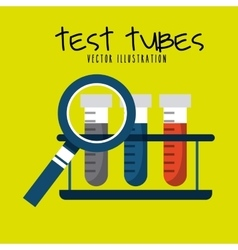 Test tubes design vector