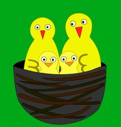 Yellow birds vector