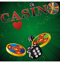 casino green strip vector image