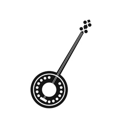 Banjo icon in simple style vector