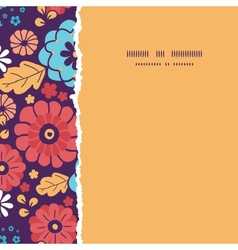 Colorful bouquet flowers square torn seamless vector