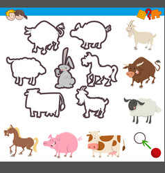 educational game of shapes vector image vector image