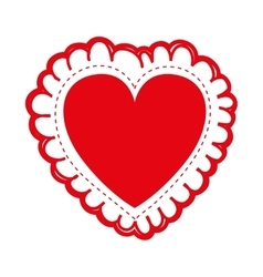embellished heart cartoon icon image vector image vector image