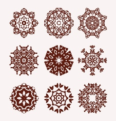 ethnic mandalas decorative elements vector image