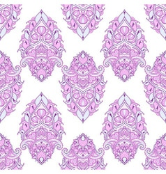 Floral leaf color lotus indian paisley ornament in vector