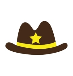 hat sheriff law icon vector image