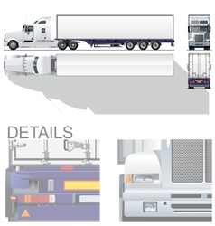 Hi-detailed commercial semi-truck vector