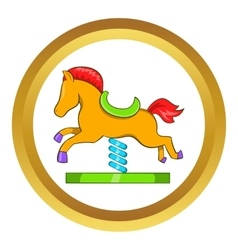 Horse spring see saw icon vector