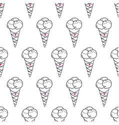 Ice cream easy pattern linear-15 vector