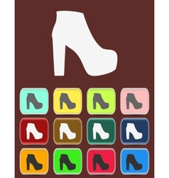 isolated jackboot with color variations vector image vector image