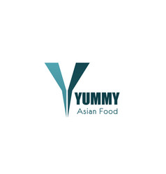 Logo for asian food cafe vector