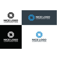logo technology and telecommunication vector image
