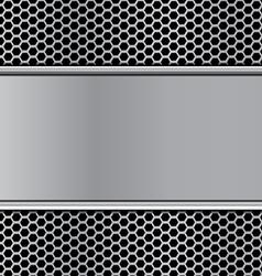 Metal texture on hex stan vector