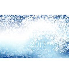 New year 2015 in blue background Clip-art vector image vector image