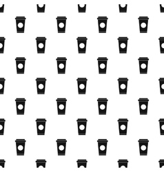 Paper cup of coffee or tea pattern simple style vector