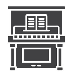 piano glyph icon music and instrument vector image vector image