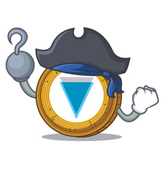Pirate verge coin character cartoon vector