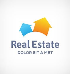 Real estate logo icon design template with houses vector
