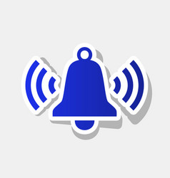 Ringing bell icon new year bluish icon vector