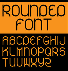 Rounded font poster vector