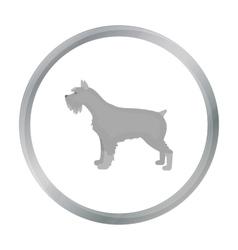 Schnauzer icon in cartoon style for web vector image vector image