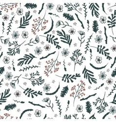 Seamless floral pattern on white background vector