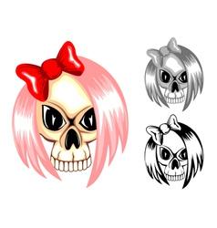 skull emo vector image