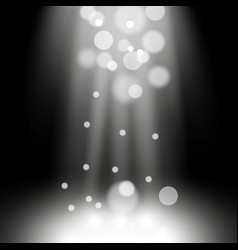 Spotlight light effect with sparks white color vector