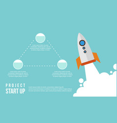 Start up business infographic step concept vector